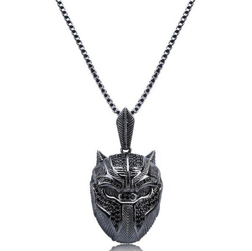 Классический Таинственный Темный элемент пантера ожерелье с подвеской-маской модные очаровательные вечерние ожерелья