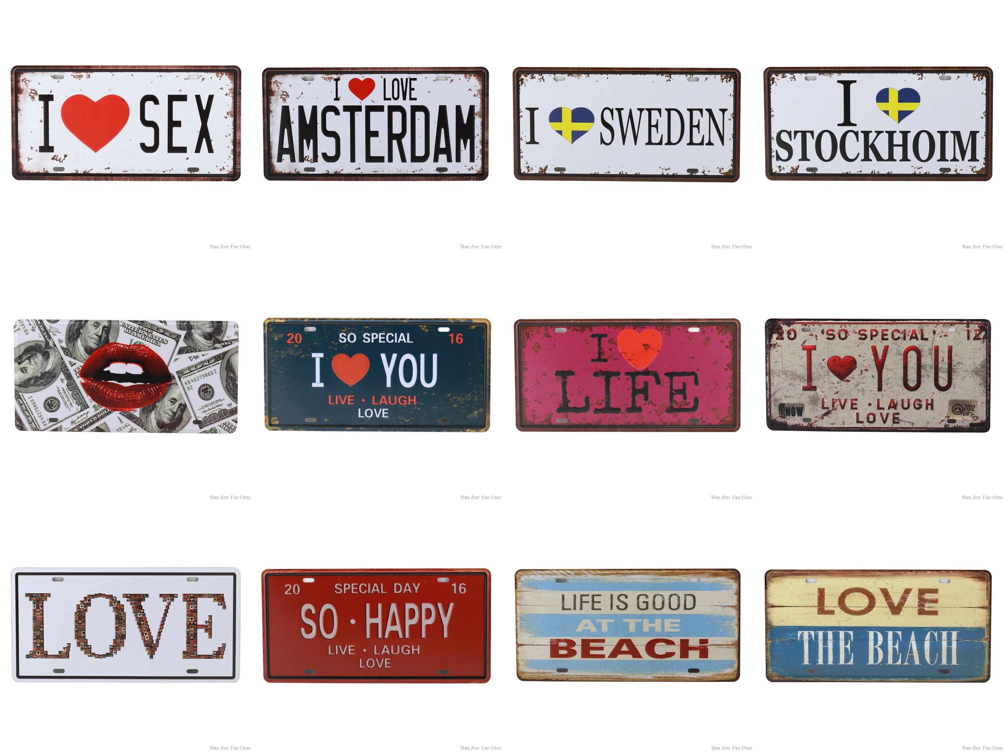I Love You Shabby Metal Tin Signs Amsterdam Live Laugh Life So Happy Plaque Iron Painting Wall Decor Board Retro Pub Funny Aliexpress,What A Beautiful Name Chords Pdf E