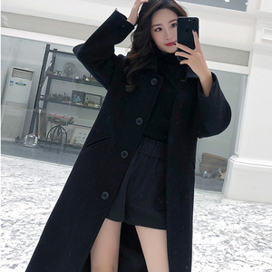 Image 5 - Ailegogo New Autumn Women Korean OL Style Long Coat Casual Turn Down Collar Single Breasted Loose Fit Female Outwear