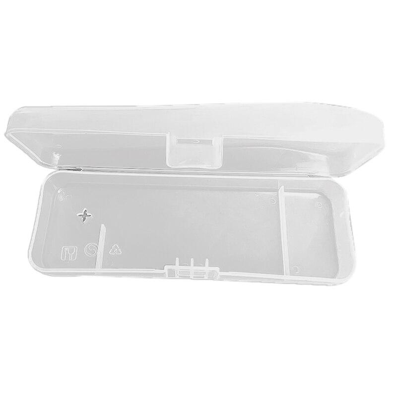 1 Pcs Travel Double Edge Razor Storage Box Men Shaver Case Razor Accessories Transparent Razor Holder Storage Travel Plastic Cas