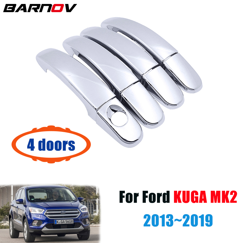 fit Ford Escape Kuga 2013-2019 ABS Chrome Car Door Bowl Handle Cover Trims