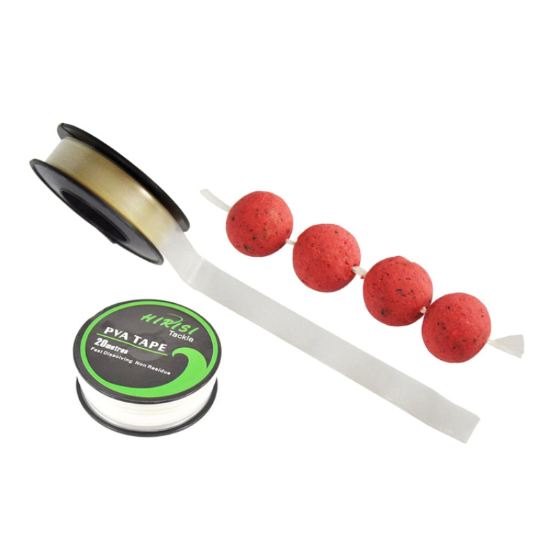 PVA Tape Fast Water Dissolving Carp Fishing Tools Water-soluble Film Bollie String Fishing Feeder Accessories 10mm X 20m