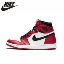 цена Nike Air Jordan 1 Original Men Basketball Shoes Comfortable Outdoor  Sneakers #555088-101 554724-610 онлайн в 2017 году