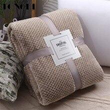 TONGDI Soft Warm Fannel Fleece Fur Elegant Blanket Solid Couch Cover For All Season Sofa Machine Wash Plush Bedspread Children