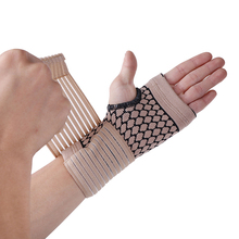 1 Pair Professional Elastic Sports Safety Carpal Tunnel Tennis Wrist Bandage Brace Support Hand Palm Brace Support