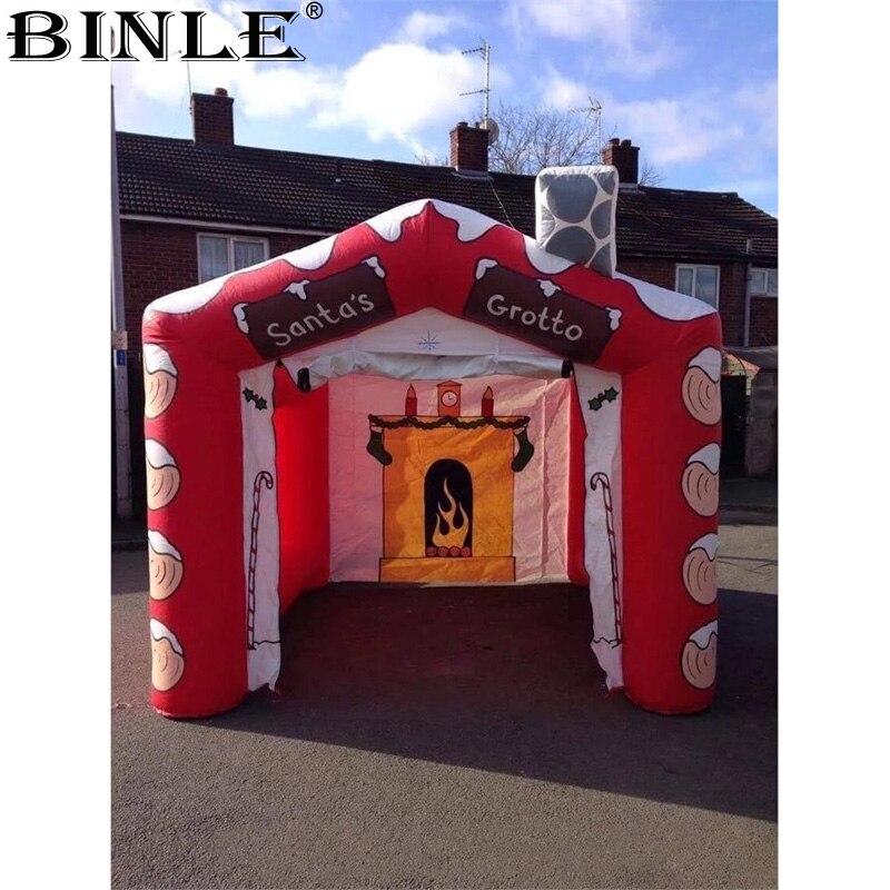 Joyeux noël dudget cube gonflable Santa grotto offre spéciale décoration de fête à thème