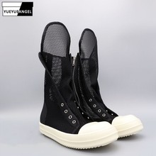 High-Top Lace Up Luxury Sneaker Trainers Breathable Mesh Hollow Casual Sandals