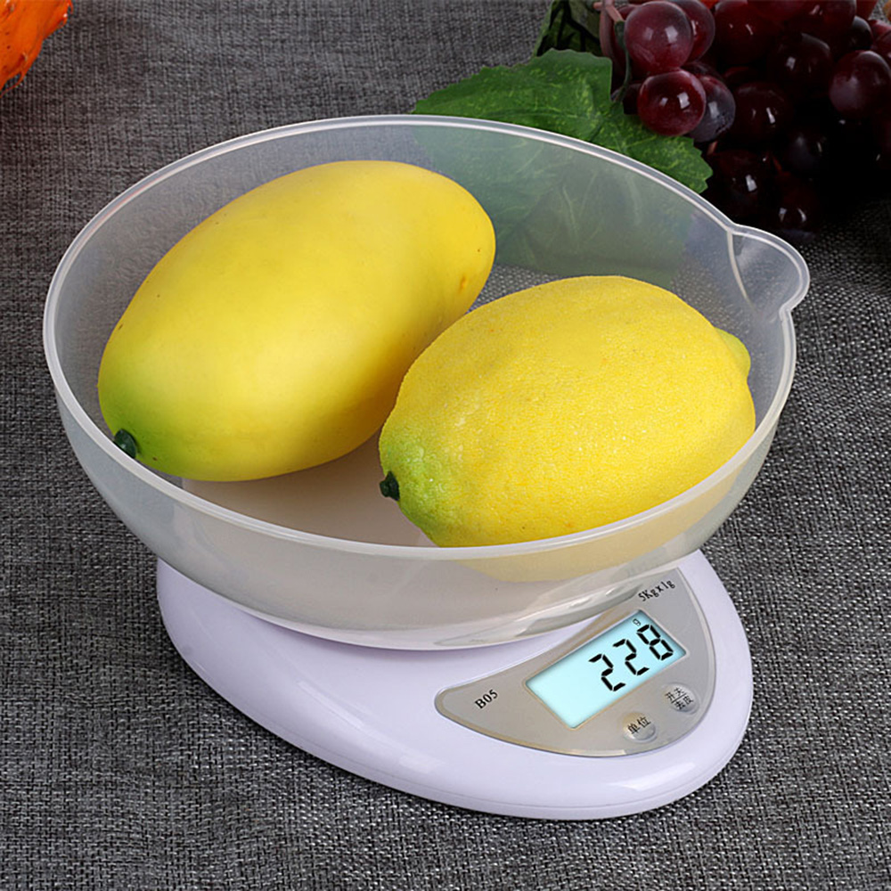 Image 3 - LCD Digital Scale 5kg/1g For Kitchen Food Precise Portable Cooking Scale Baking Scale Balance Measuring Weight Libra LED Postal-in Weighing Scales from Tools