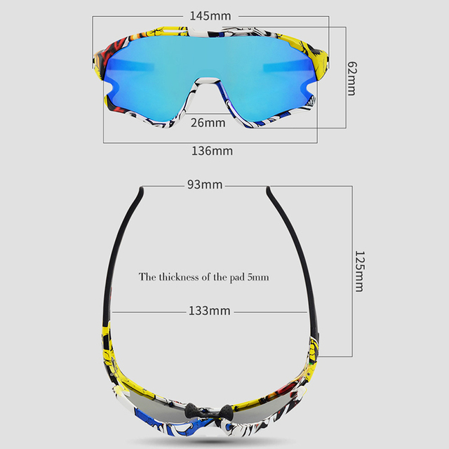 Cycling Sunglasses Professional Polarized Cycling Glasses MTB Road Bike Sport Sunglasses Bike Eyewear UV400 Bicycle Goggles 3