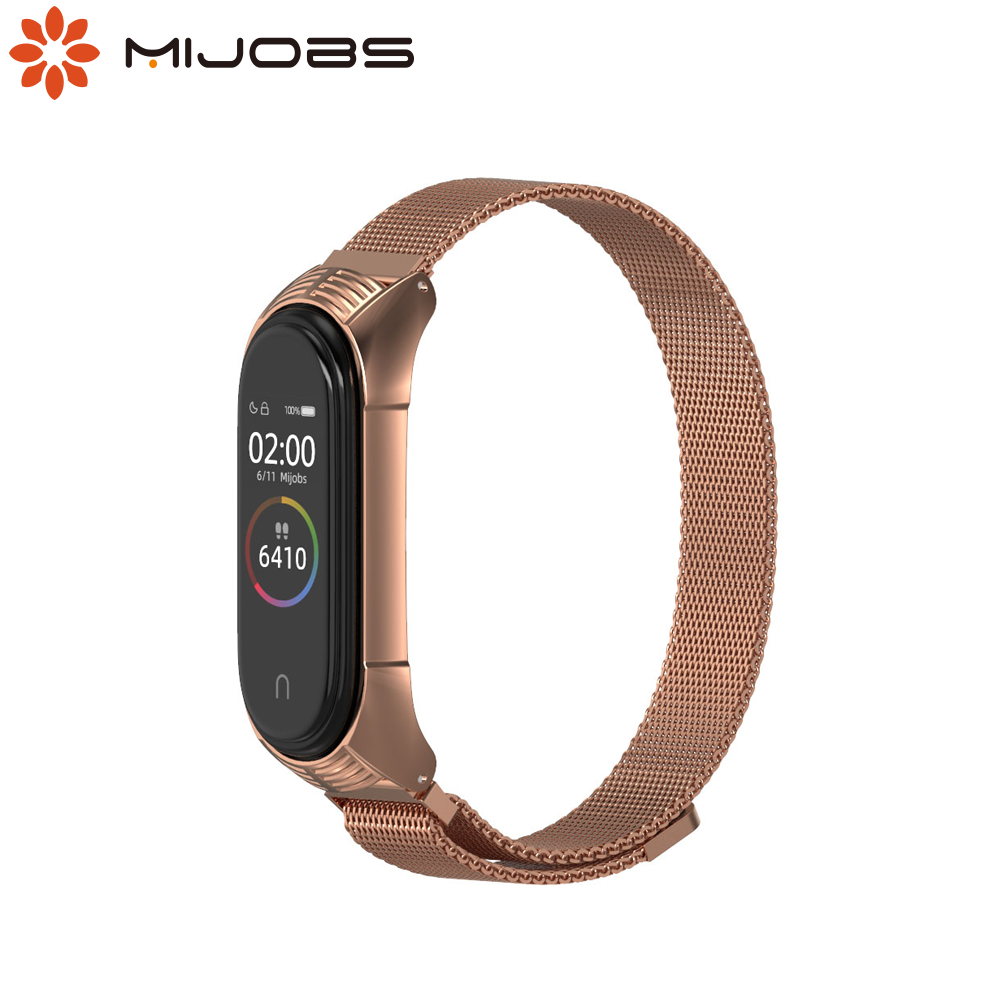 Mi Band 5 Strap for Xiaomi Mi Band 4 Wristband Original NFC Global Version Mi Band 3 Strap Watchband Metal Bracelet Accessories image