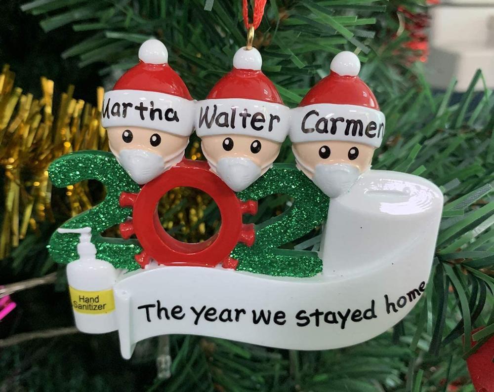 Yeelan Adorno de /árbol de Navidad Adorno Familiar Sobrevivido 2020 Adornos Colgantes Navidad DIY Nombre Bendici/ón Colgante Mu/ñeco de Nieve Colgar Adornos para Regalos para el hogar