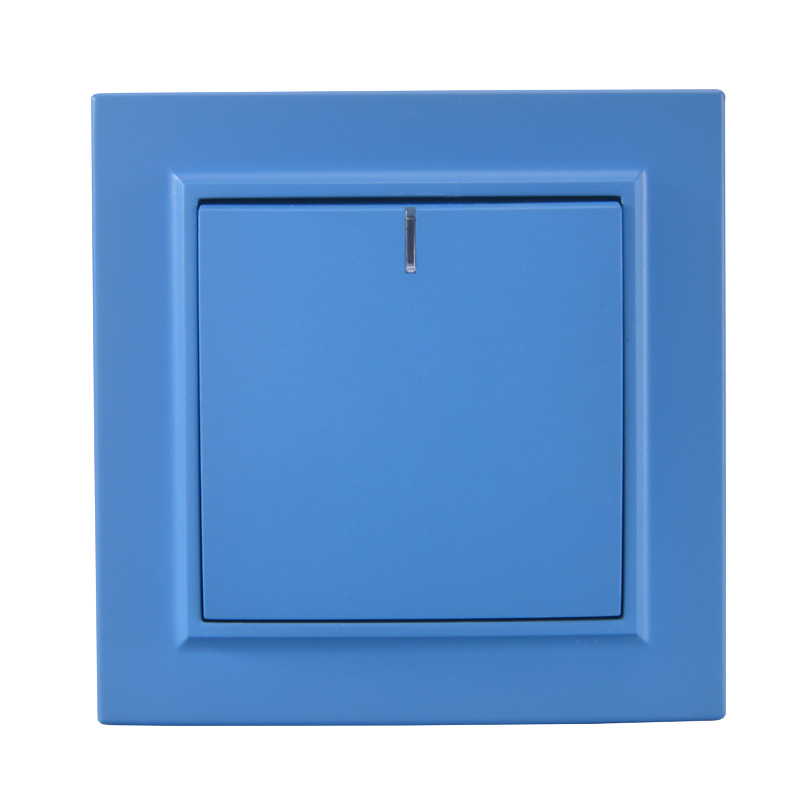 Light switch 1 gang 1 way with indicator European standard Decorative wall switch 10A 250V legrand Schneider EP-03 Sky Blue(China)
