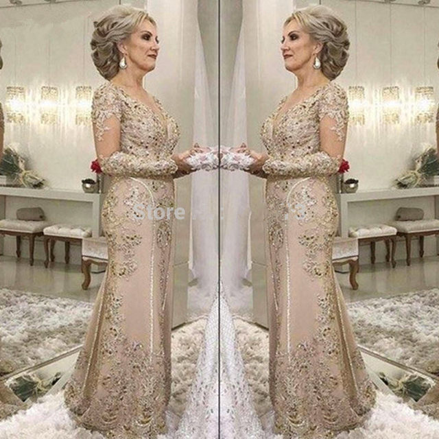 YNQNFS-M07-Lace-Appliques-Long-Sleeves-Mermaid-Vestidos-Formal-Dress-Women-Elegant-2019-Mother-of-the