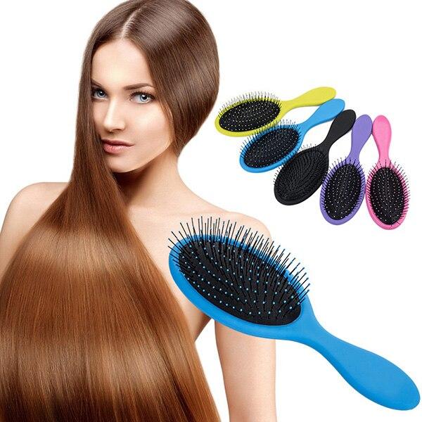 Для женщин расчёсывание волос салонная щетка для волос прически гребень Мокрый сухой уборки, массажирует голову кисти BFC996