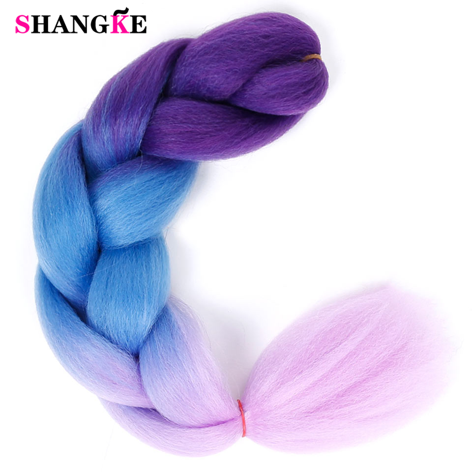 Jumbo Braids Long Ombre Jumbo Synthetic Braiding Hair Yellow Pink Purple Gray Hair Extension Oversized Tweezers