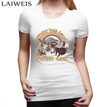 Street Cats T-Shirt damski T-Shirt z nadrukiem T-Shirt damski z dekoltem w serek biały T-Shirt z krótkim rękawem T-Shirt damski tanie tanio LAIWEIS COTTON REGULAR Suknem Cartoon NONE Na co dzień O-neck printed t shirt Round neck fashion High Quality 100 Cotton