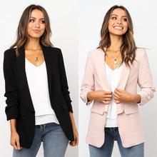 Пиджаки женские элегантные 2 цвета верхняя одежда с карманами