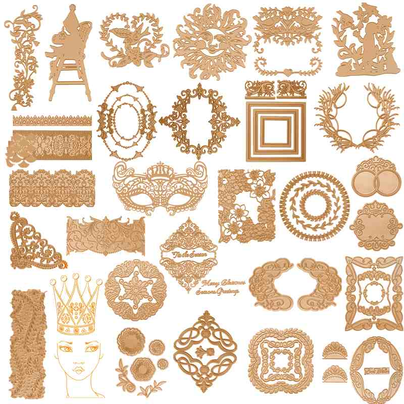 Hot-Foil-Plate Frames Embossing-Paper-Cards Crafts Circle Scrapbooking Letterpress Metal