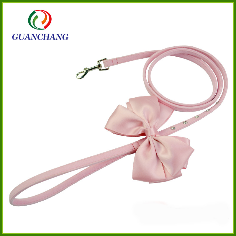 Pet Supplies Dog Drawstring Bow Pet Dog Hand Holding Rope Girly Series Bow Pet Collar
