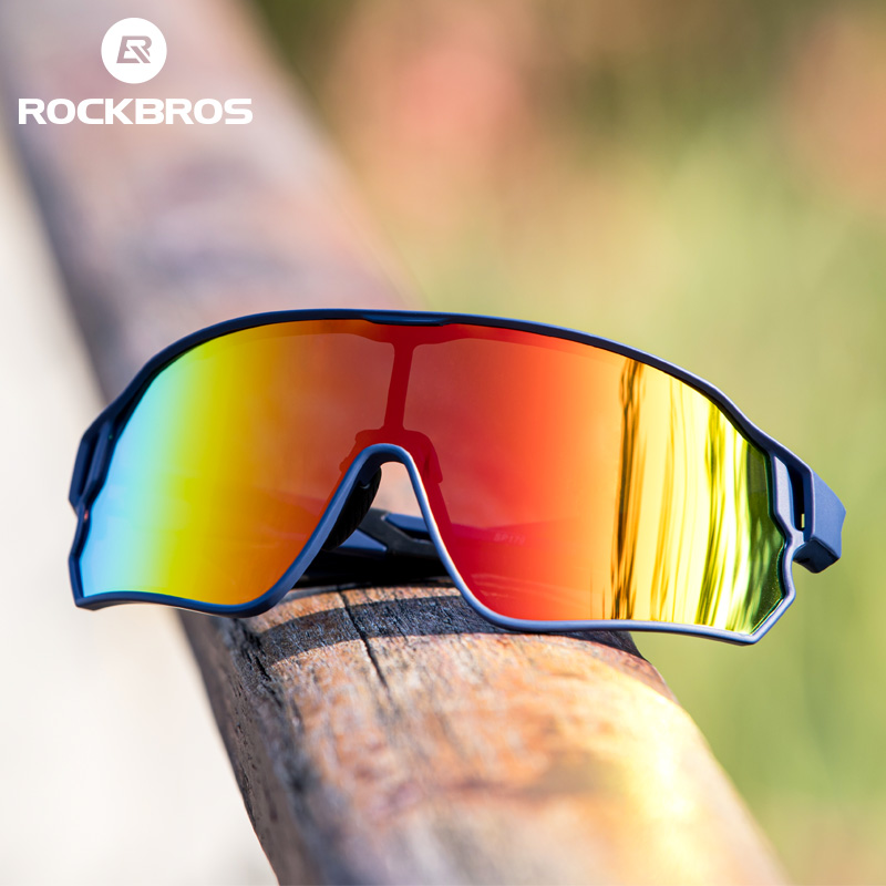 ROCKBROS Cycling <font><b>Glasses</b></font> Polarized Men Women Bicycle <font><b>Glasses</b></font> <font><b>5</b></font> <font><b>Lens</b></font> Photochromic MTB Road <font><b>Bike</b></font> Eyewear Outdoor Sports Sunglasses image
