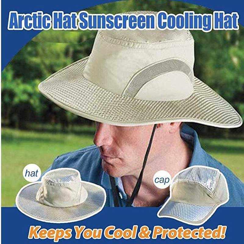 ขายร้อน ARCTIC หมวก Cooling ICE หมวกครีมกันแดด Hydro Cooling หมวก ARCTIC หมวก UV ป้องกันช่วยให้คุณเย็น