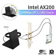 Desktop-Kit Wlan-Card Wifi Bluetooth 5.1 AX200NGW Wireless-Adapter 6-Intel Network 2400mbps