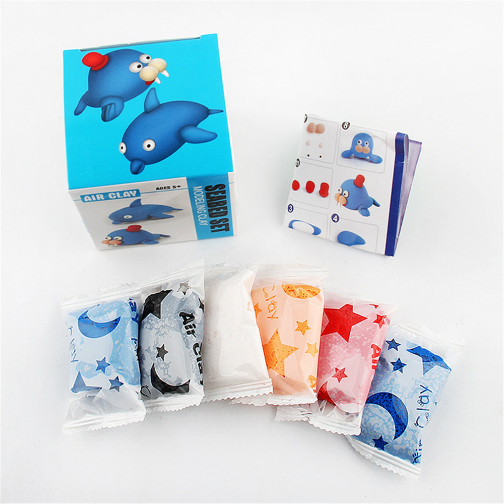 Ultra Light DIY Clay Ultra Light Space Clay Puzzle Space Clay Rubber Mud Intelligent Hand Gum Plasticine Slime Kid Toys  L0119