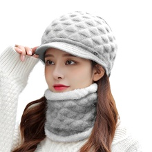 Hat Ring-Scarf Beanie Knitted Winter Women Sparsil Girl Thick Warm Cap-Set Face-Mask