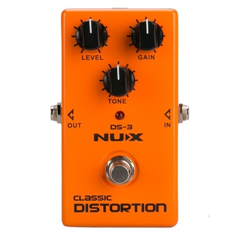 NUX DS-3 Distortion Pedal Analog Guitar Tube distortion effects pedal Crunch distortion Brown Sound aroma abt 5 classic distortion guitar effect pedal warm smooth wide range distortion sound 3 modes aluminum alloy true bypass