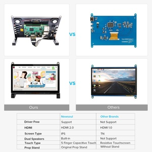 Eviciv Raspberry Pi 2 3 TouchScreen Tragbare Monitor 7 zoll Display 5 Punkt Multi-Touch Screen mit Lautsprecher Stehen stift HDMI USB