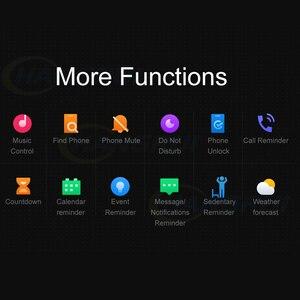 Image 5 - Oryginalna marka Xiaomi Mi zespół 4 5 inteligentny zegarek Mi zespół 5 Fitness bransoletka AMOLED kolorowy ekran tętno kontrola muzyki inteligentny zespół