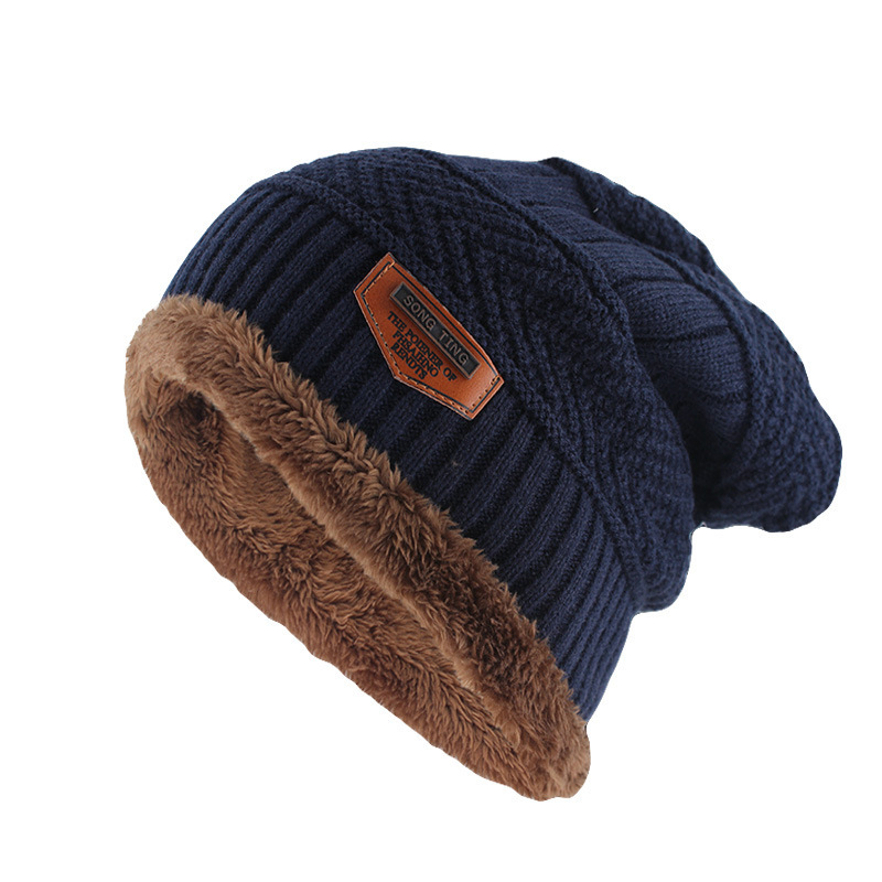 Winter Knitted Mens Hats Outdoor Warm Loose Comfortable Caps Thickening Plus Velvet Hat Ski for Women Men
