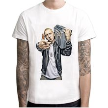 Eminem T Shirt Pria T Shirt Hip Hop T Kemeja Makaveli Rapper Snoop Dogg Biggie Smalls J Cole Jay- Z Savage Hip Hop Musik Rap Atasan(China)