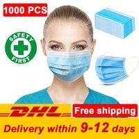 Venta Venta al por mayor 1000 uds envío gratis superventas en Stock máscara desechable Máscara protectora máscaras
