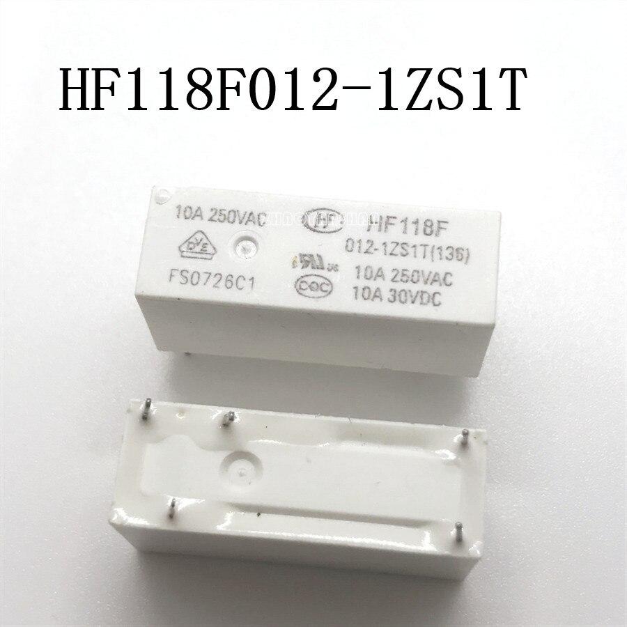 10 шт. X HF118F012 1ZS1T HF118F 012 1ZS1T HF118F012 Новое реле Бесплатная доставка Реле      АлиЭкспресс