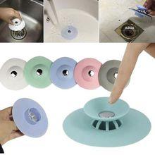 Силиконовый Фильтр для раковины, канализационная, против засорения овощей, пробка для волос, легко дезодорант, пробка для ванной, пресс для кухни, инструмент для ванной