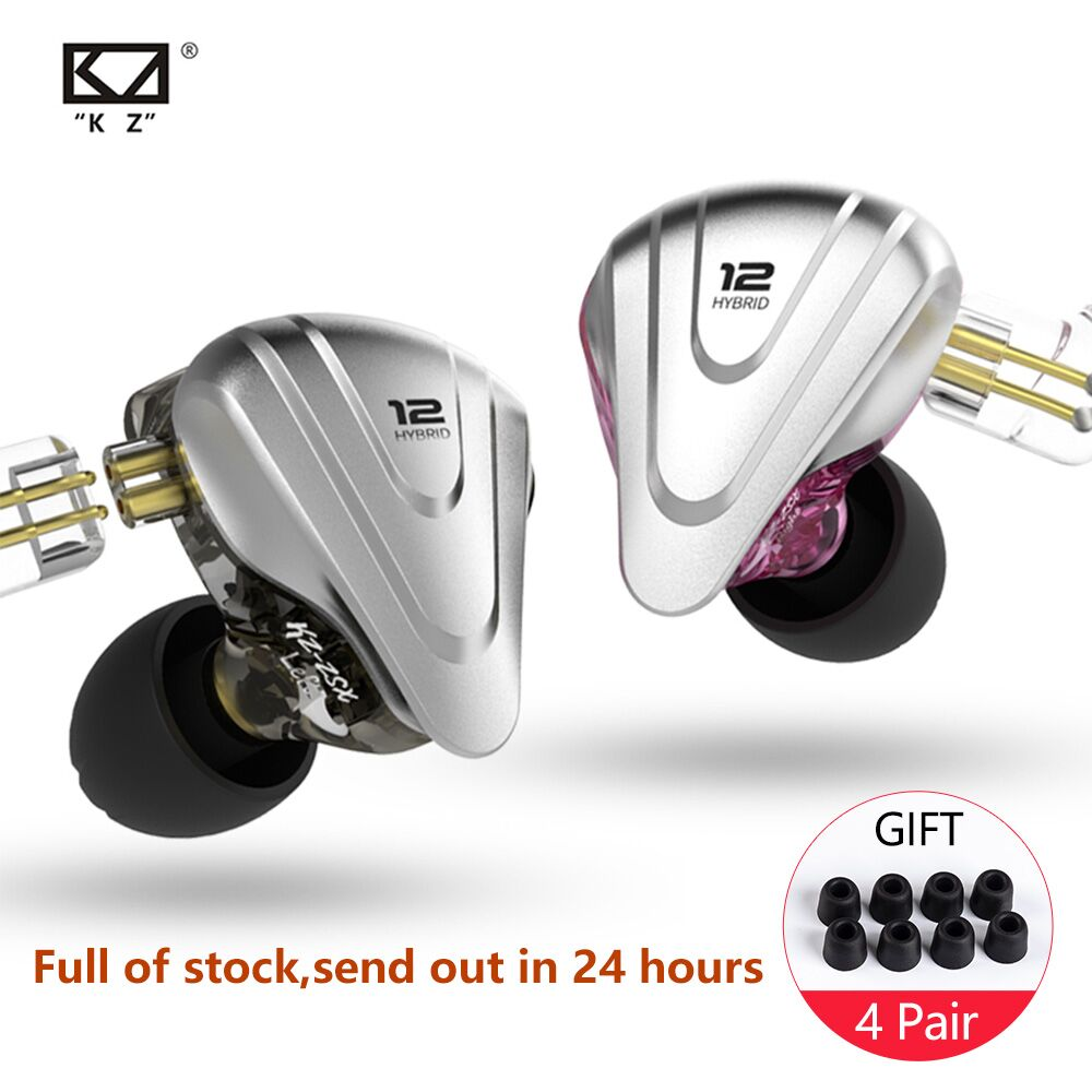KZ ZSX 5BA+1DD Hybrid In Ear Headphone 12 Drivers Unit HIFI Headset DJ Monitor Earphone Earbuds KZ ZS10 AS10 AS12 AS16 C16 C12
