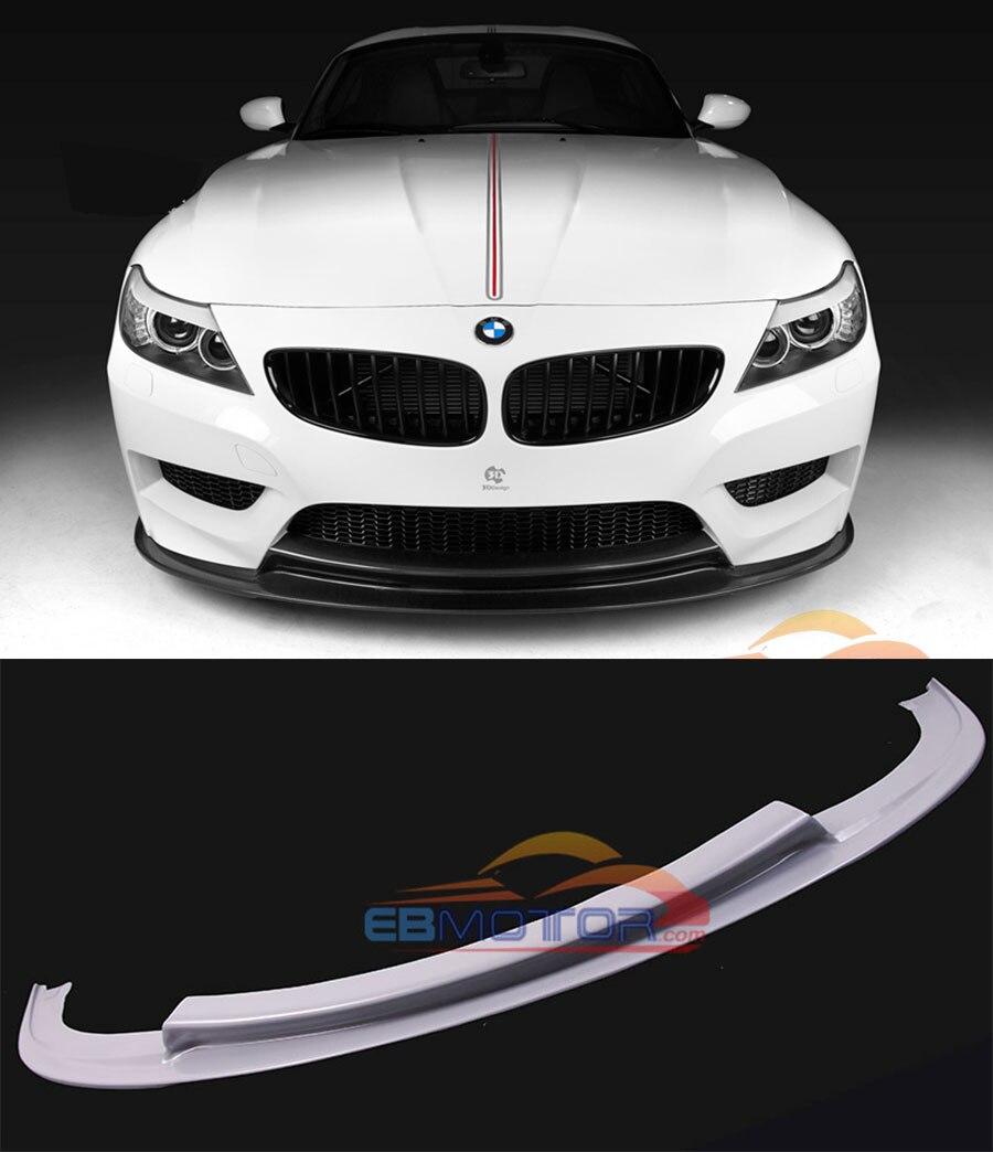 UNLACKIERT 3D stil Fiber glass front lip spoiler für BMW E89 Z4 M-TECH M-SPORT modell B380F