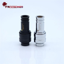FREEZEMOD ZSZT-T1 Computer Pc Water Cooler Fitting Stop Adapter Copper Fitting Double Female Two-Side Shut Off Water. ZSZT-T1