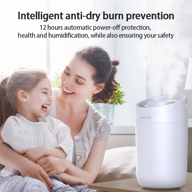 1Pcs Air Humidifier 3L large-capacity Air Purifier For Home Bedroom Portable Water-adding Office Double-Jet Humidifier Sprayers-3
