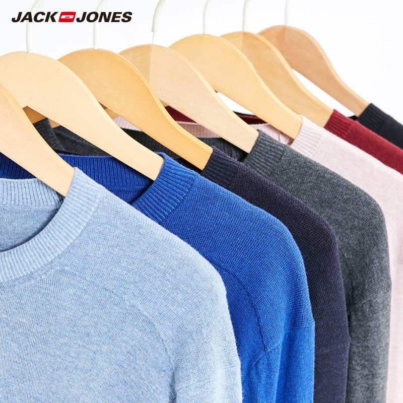 JackJones Men's Colorful Comfortable Fabric Basic Crew Neck Sweater 219324522