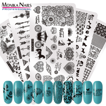 Stamp Nail-Stamping-Plates Love-Pattern-Template Manicure for Wedding All Stainless-Steel