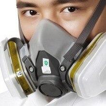7pcs Organic Vapor Full Face Respirator Mask Gas Mask Paint Pesticide Chemical Formaldehyde  Respiratory Protection