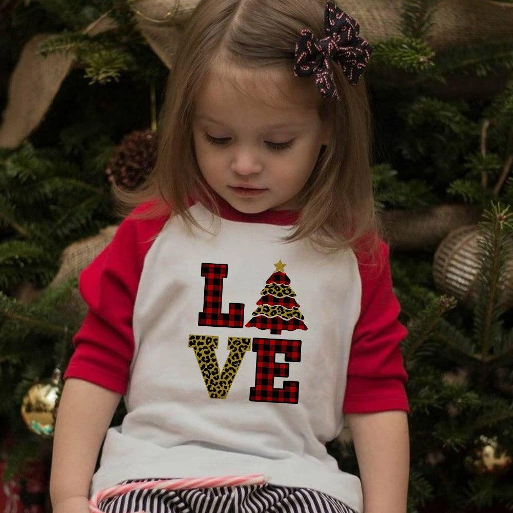 Милые рождественские футболки для девочек и мальчиков с принтом «печенья», «озорная команда», «Дорогой Санта»