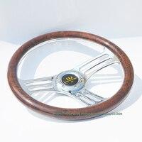 350mm Peach Wood One piece Design Racing Car Steering Wheel