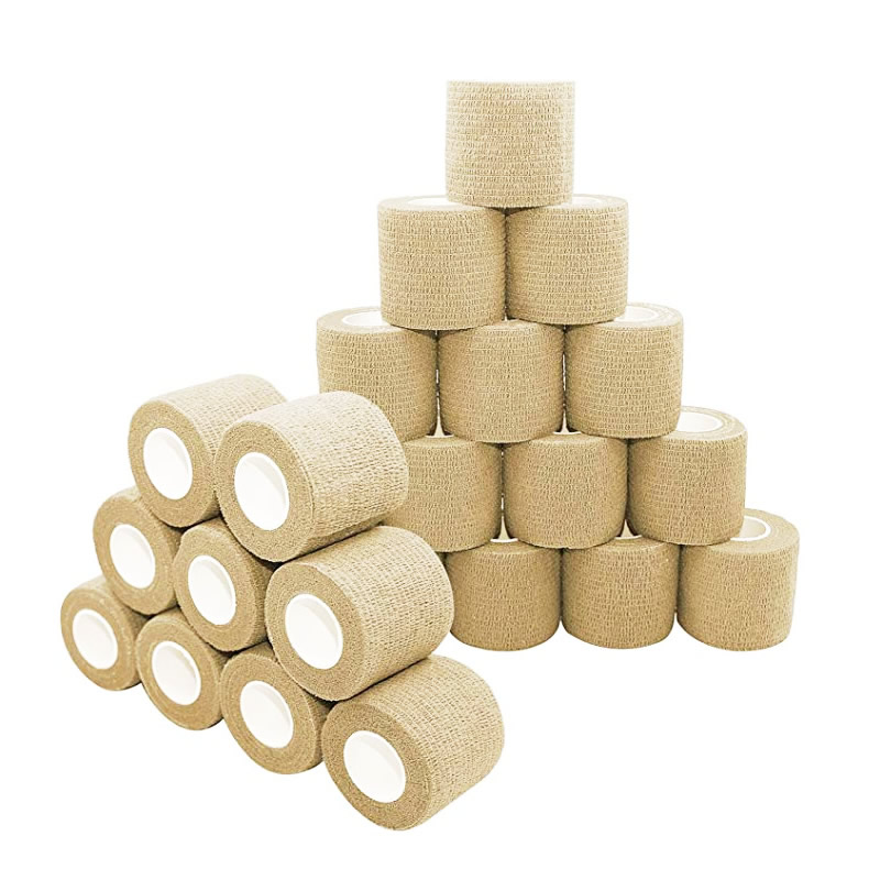 24 Rolls Pure Color Non-woven Self Adhesive Bandage Sports Tape Finger Joints Medical First Aid Kit Pet Vet Wraps 5cm*4.5m