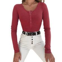 купить New Skinny Body Top Winter Autumn Bodycon Women Rompers Feminino Solid Sexy Club Overalls Knitted Long Sleeve Bodysuits TS1044 дешево