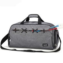 Men Business Casual Sports Gym Bag With Shoes Compartment And Wet Pocket Travel Duffel