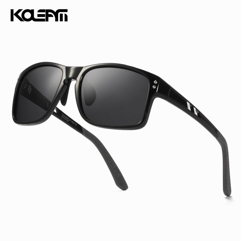KDEAM LUXURY HD Polarized Sunglasses Oversized Men Square TR90 Frame 100% UV Protection Women Sun Glasses With Case KD524-C1