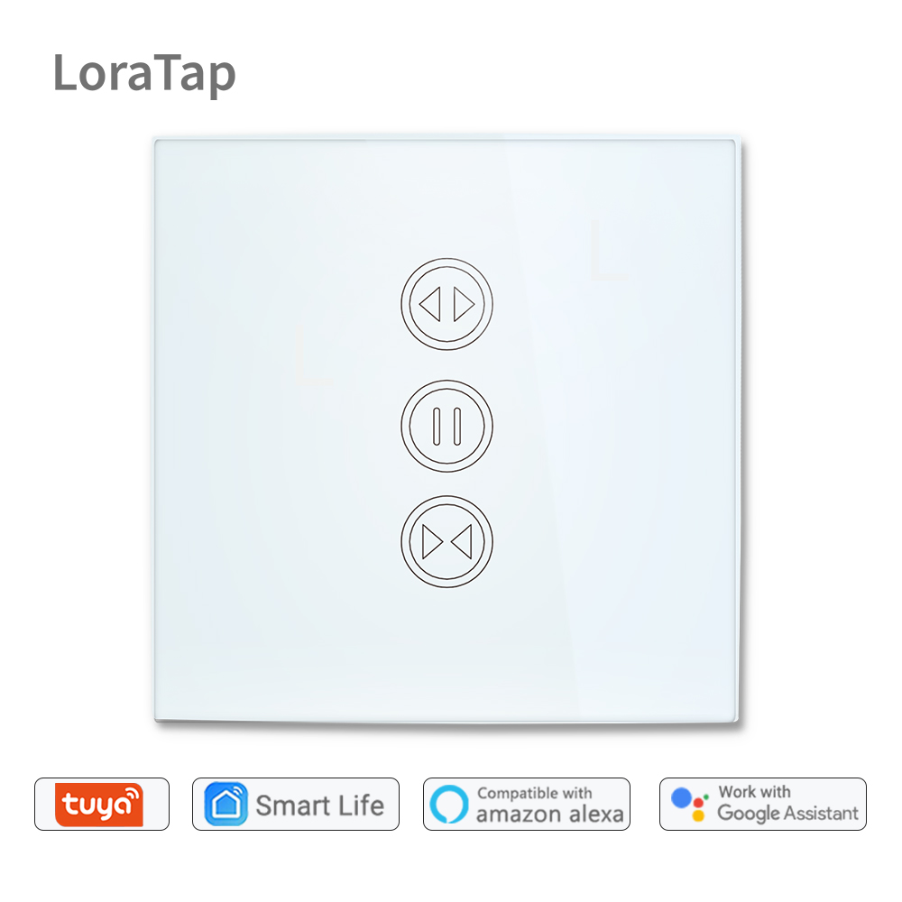 Tuya Smart Life WiFi interrupteur à rideau pour rideau électrique motorisé volet roulant, Google Home, Amazon Alexa commande vocale